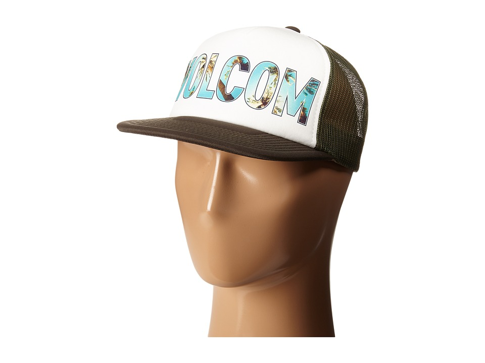 Volcom - Girl Talk Trucker Hat (Army) Caps