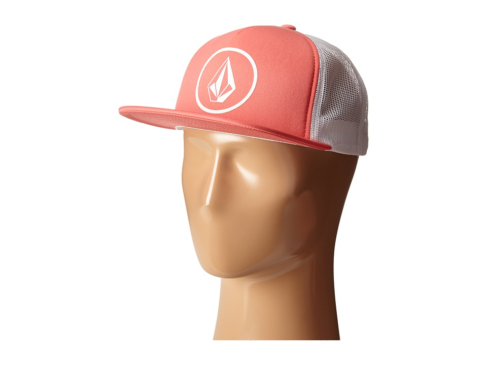 Volcom - Girl Talk Trucker Hat (Grapefruit) Caps
