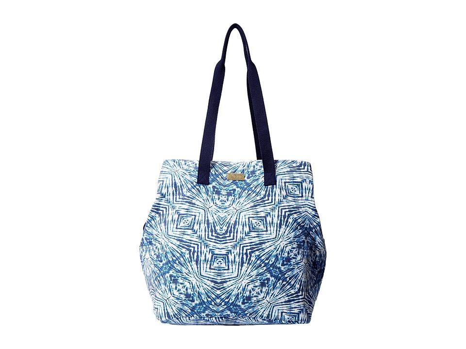 Volcom - Print Paradise Tote (Navy) Tote Handbags