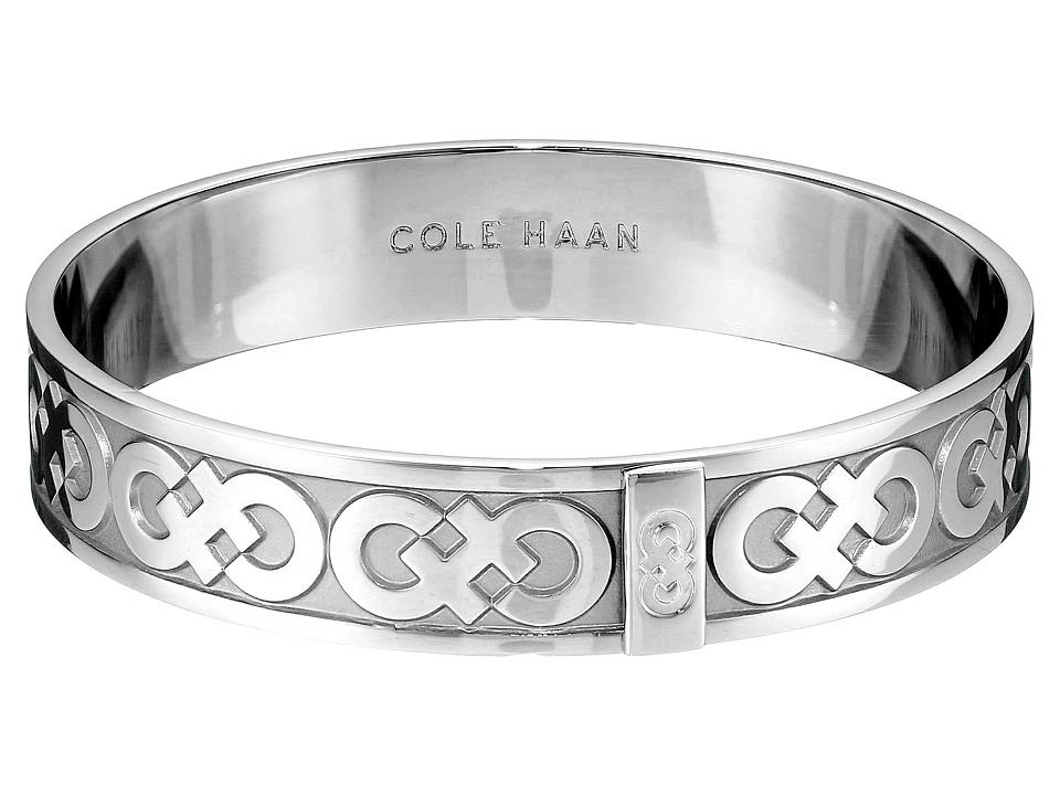 Cole Haan - Logo Metal Bangle Bracelet (Light Rhodium) Bracelet
