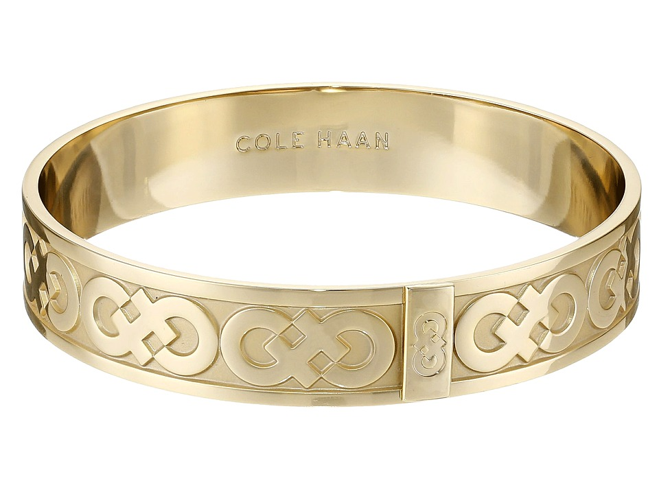 Cole Haan - Logo Metal Bangle Bracelet (Gold) Bracelet