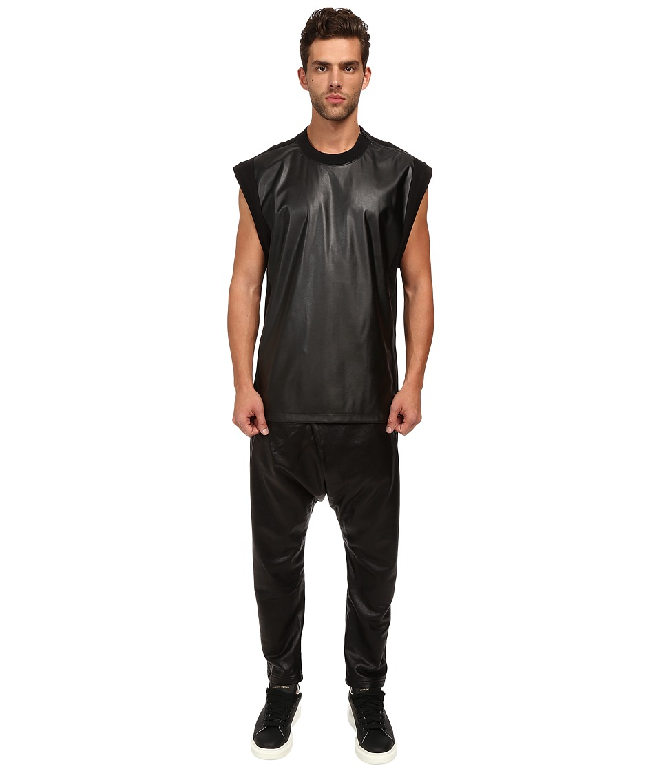 DBYD - Fabric Blocking Sleeveless T-Shirt (Black) Men's T Shirt