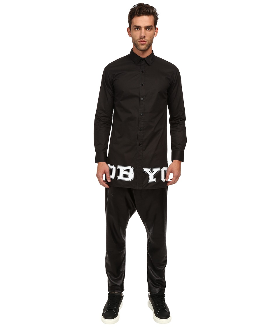 DBYD - Logo Shirt (Black) Men's Long Sleeve Button Up