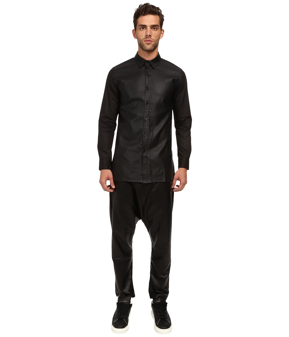 DBYD - Tape Patched Shirt (Black) Men's Clothing