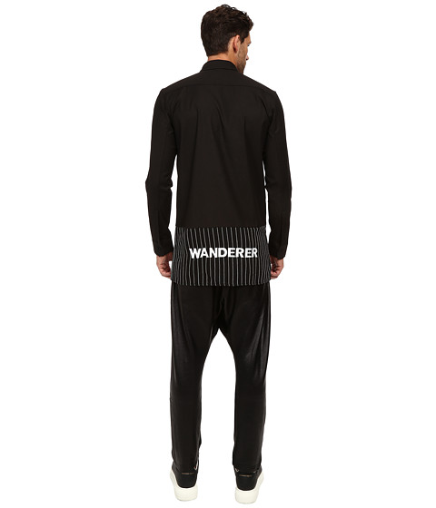 DBYD - Wanderer Embroidery Shirt (Black) Men's Clothing