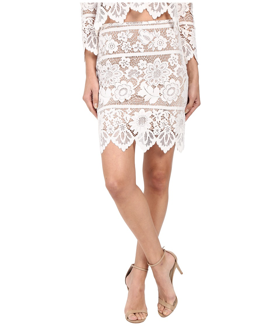 For Love and Lemons - Gianna Mini Skirt (White) Women's Skirt