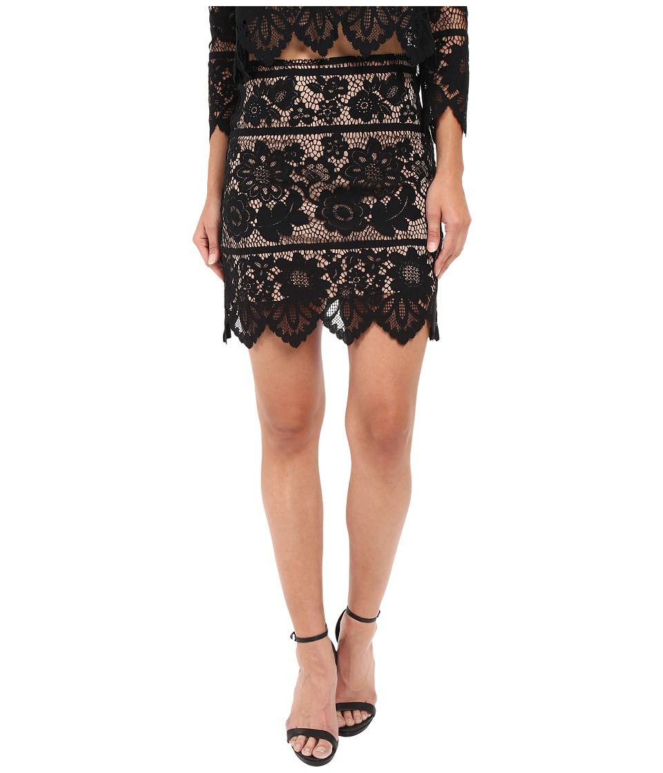 For Love and Lemons - Gianna Mini Skirt (Black) Women's Skirt