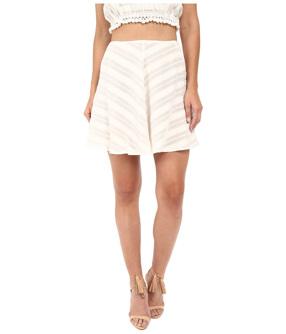 For Love and Lemons - Alessandra Mini Skirt (White) Women's Skirt