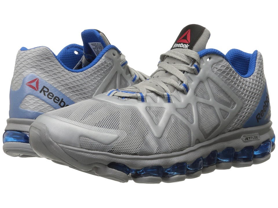 Reebok - ZJet Burst (Tin Grey/Blue Sport) Men's Shoes