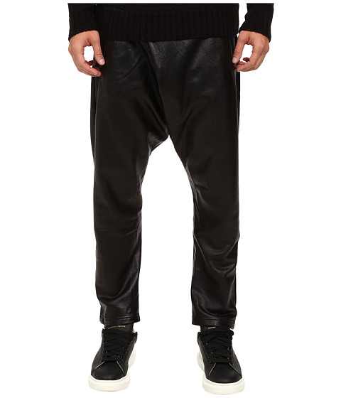 DBYD - Glossy Baggy Jersey Pants (Black) Men's Casual Pants