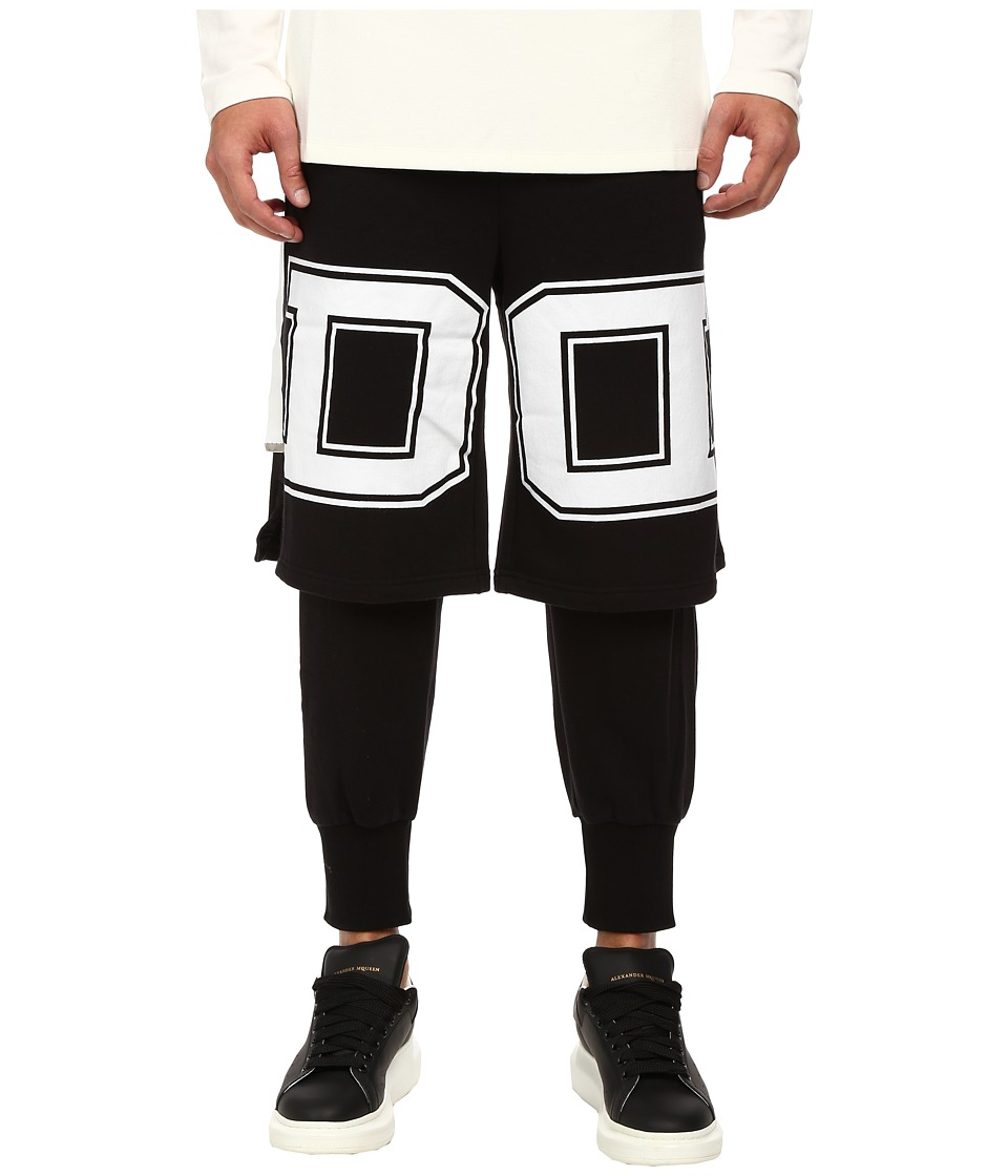 DBYD - D Printed Layered Jersey Pants (Black) Men's Casual Pants