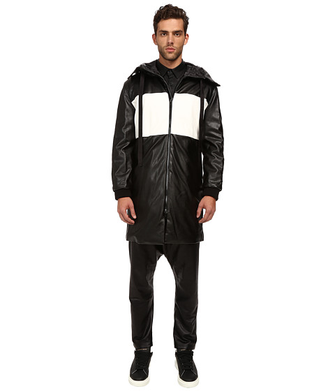 DBYD - Color Blocking Zip-Up Hoodie (Black) Men's Sweatshirt
