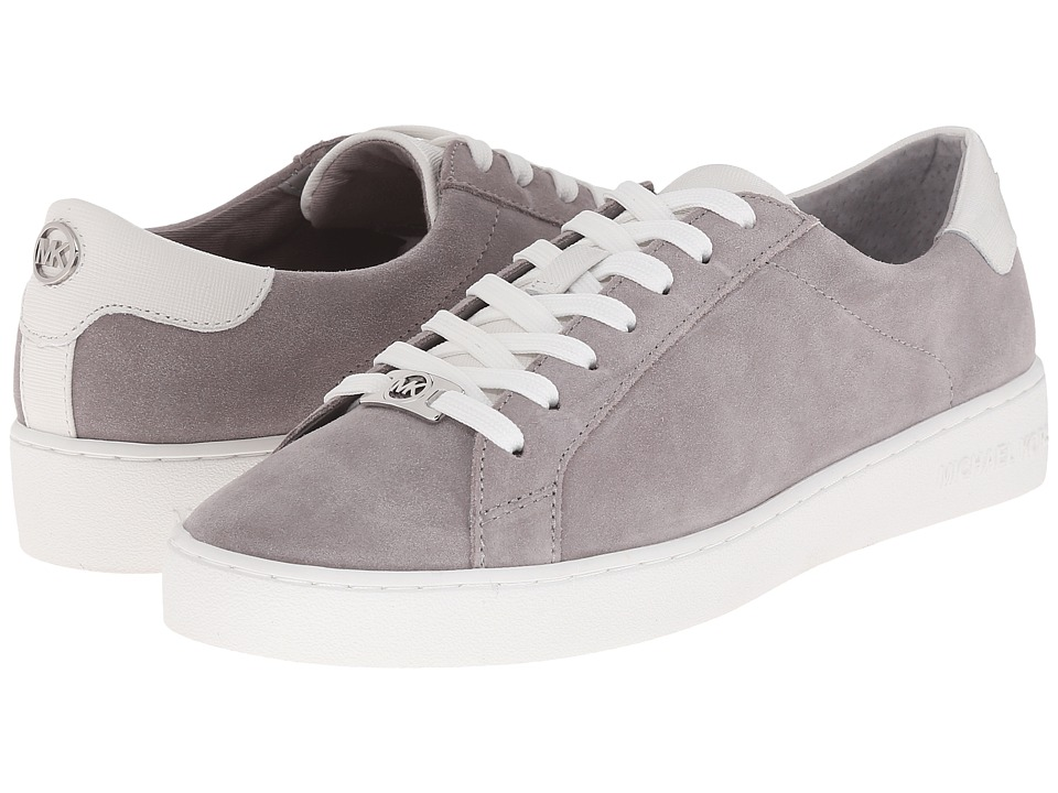 MICHAEL Michael Kors - Irving Lace Up (Pearl Grey/Optic White Sport Suede/Saffiano) Women's Lace up casual Shoes