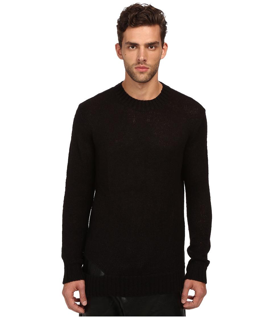 DBYD - Bottom Cut Knitted Sweater (Black) Men's Sweater