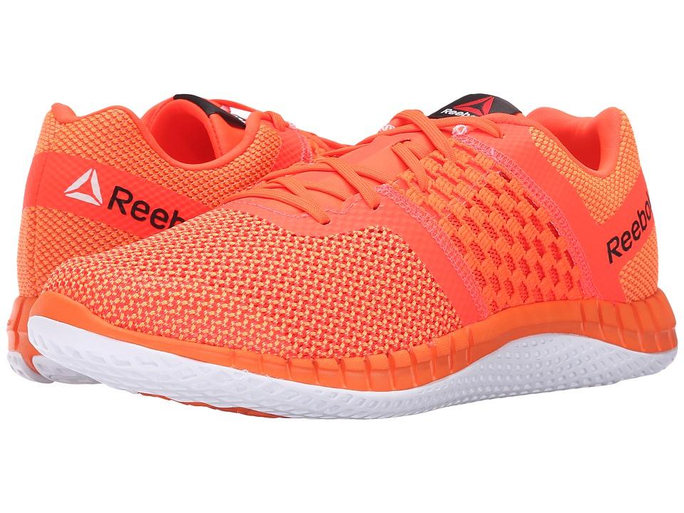 Reebok - ZPrint Run (Electric Peach/Atomic Red/White) Men