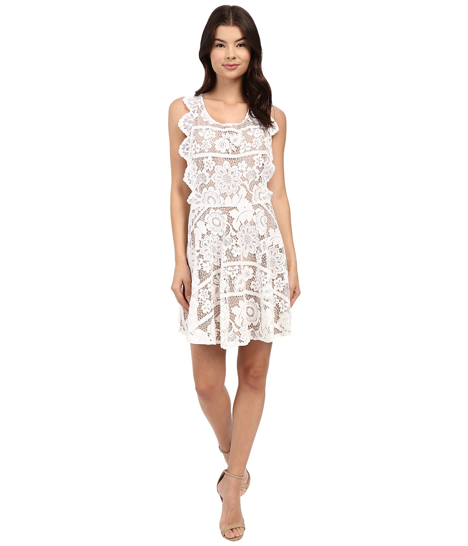 For Love and Lemons - Gianna Mini Dress (White) Women's Dress