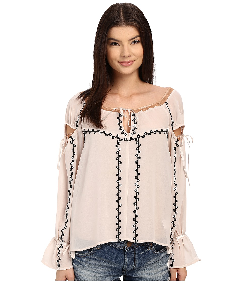 For Love and Lemons - Niccola Top (Blush) Women's Blouse