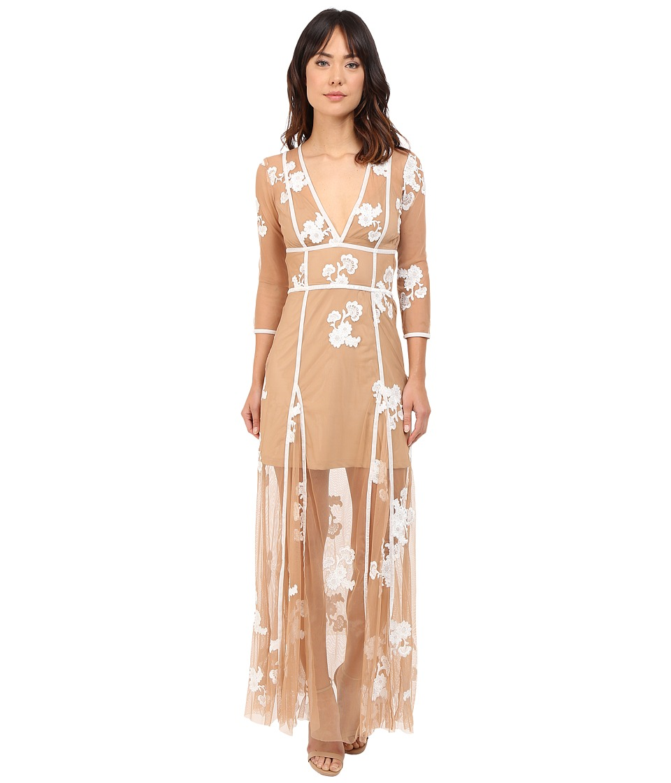 For Love and Lemons - Elenora Maxi Dress (White/Nude) Women's Dress