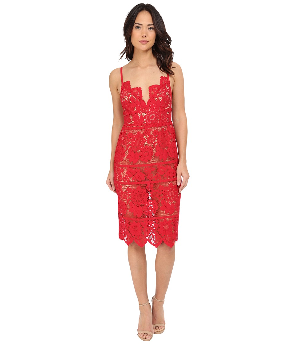 For Love and Lemons - Gianna Dress (Hot Red) Women's Dress