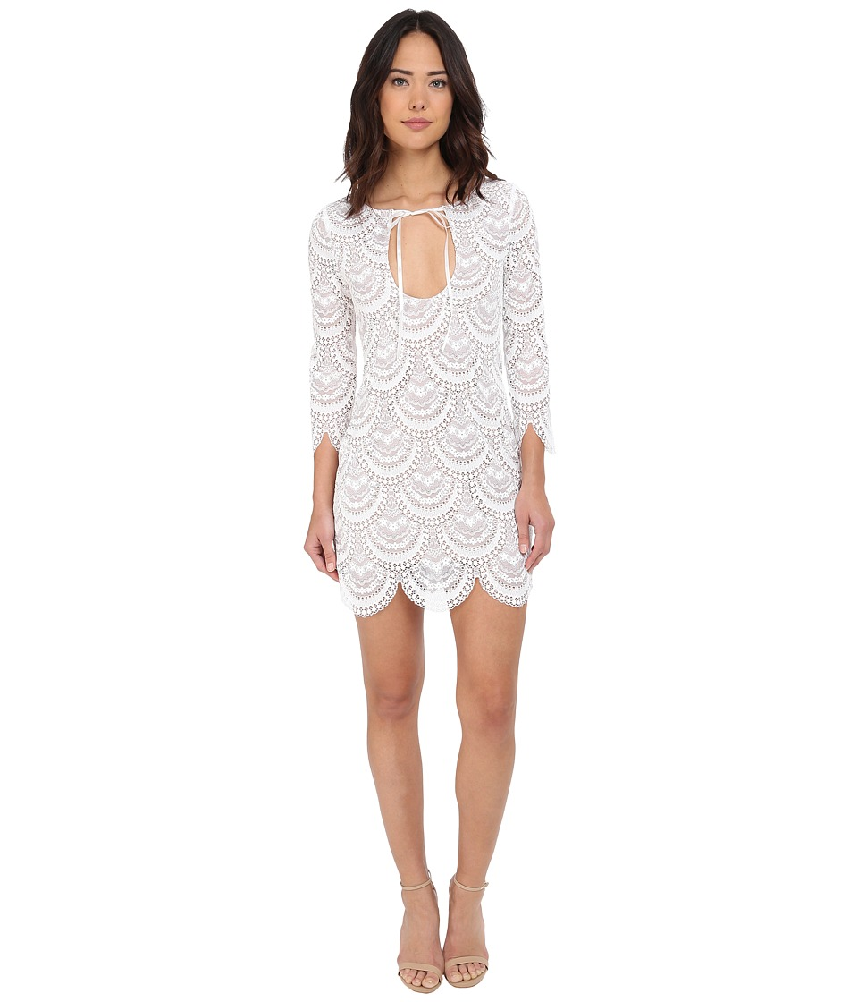 For Love and Lemons - Rosalita Mini Dress (White) Women's Dress