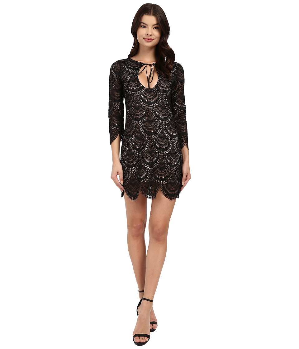For Love and Lemons - Rosalita Mini Dress (Black) Women's Dress