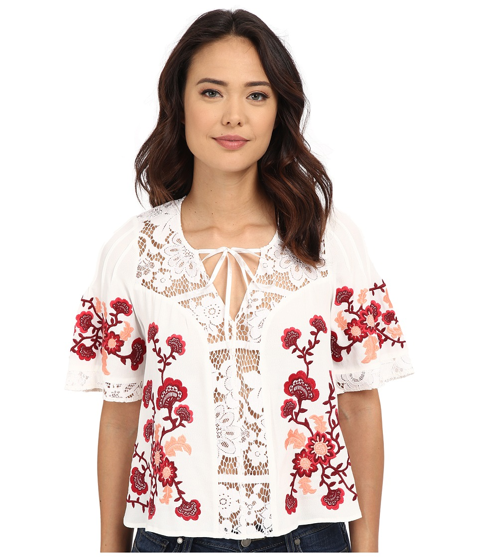 For Love and Lemons - Isabella Top (White) Women's Blouse