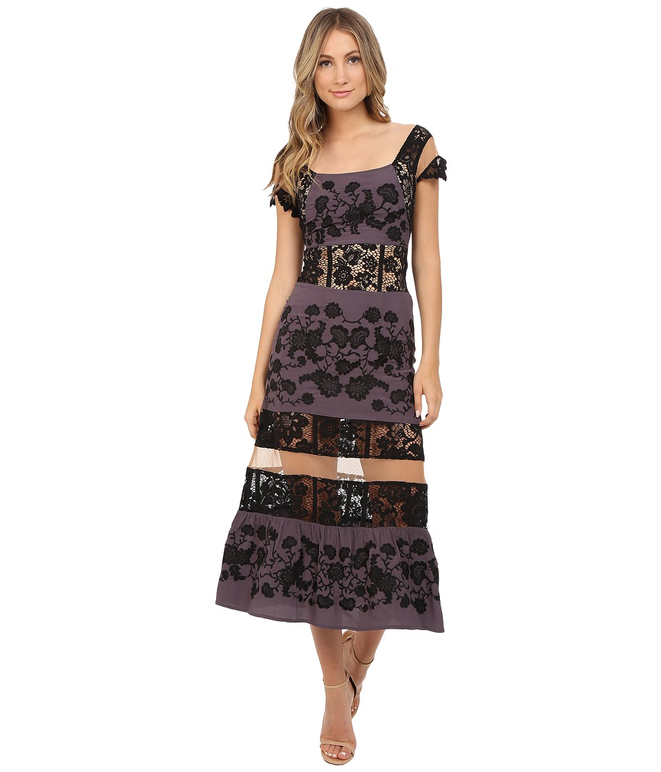 For Love and Lemons - Cecelia Dress (Dark Grey) Women's Dress
