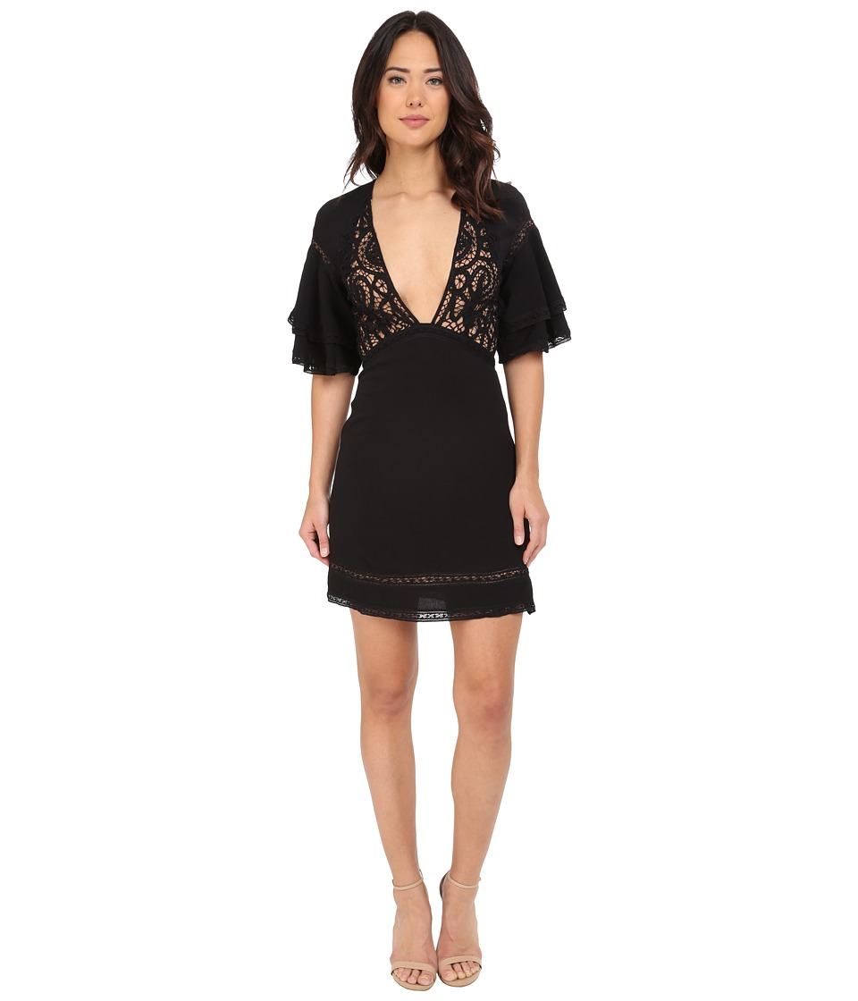 For Love and Lemons - Carmine Mini Dress (Black) Women's Dress
