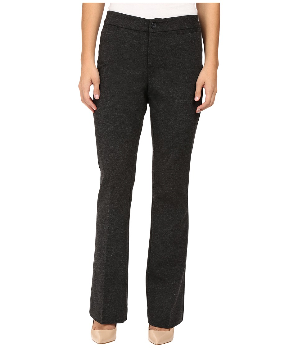 NYDJ Petite - Petite Michelle Ponte Trousers (Charcoal) Women's Dress Pants