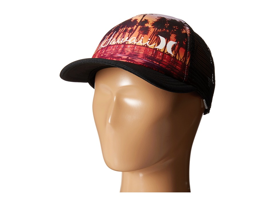 Hurley - Destination Trucker Hat (Black Hawaii) Caps