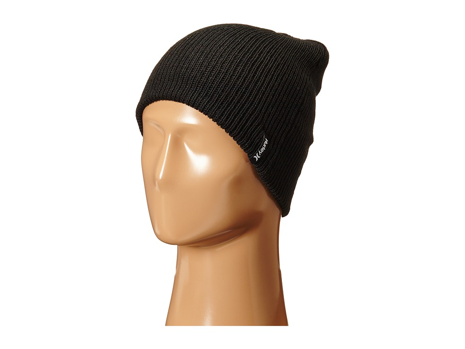 Hurley - Shipshape 2.0 Knit Hat (Black) Beanies