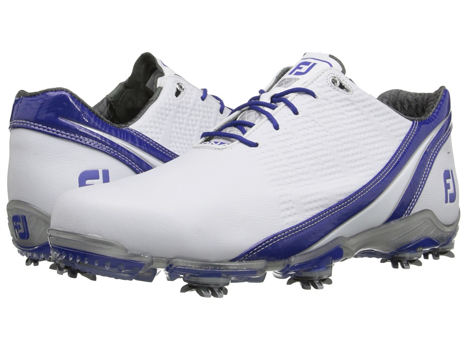 FootJoy - DNA 2.0 (White/Royal Blue) Men's Golf Shoes