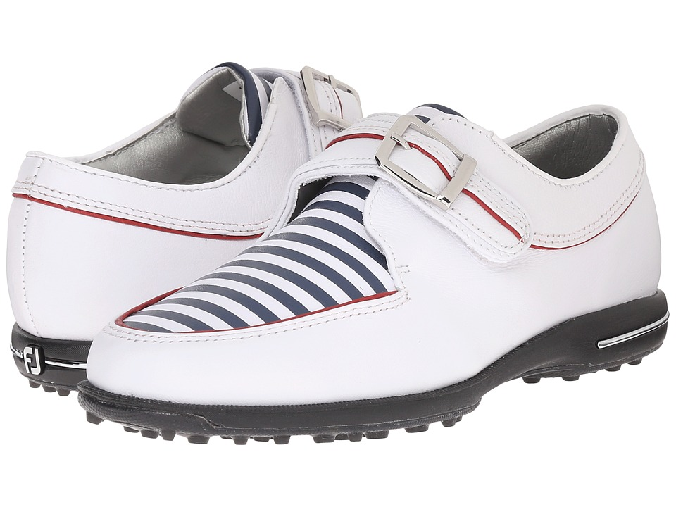 FootJoy Tailored Collection (White/Navy Stripes) Women