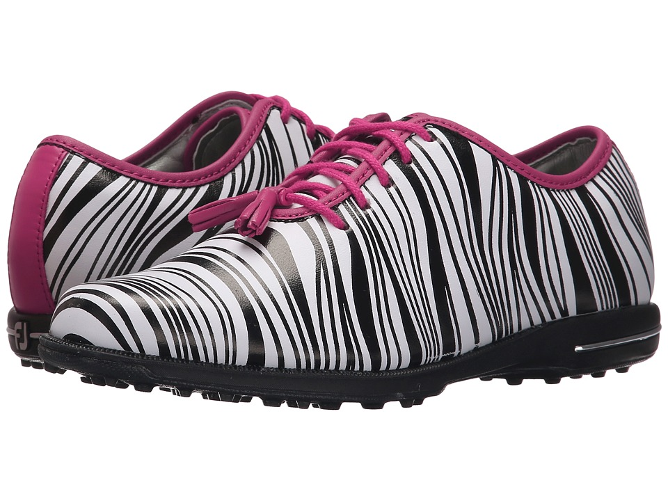 FootJoy - Tailored Collection (Zebra/Fuchsia) Women's Golf Shoes