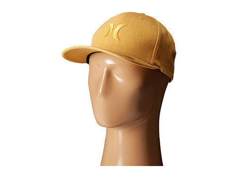 Hurley - One and Textures Fitted Hat (University Gold) Caps