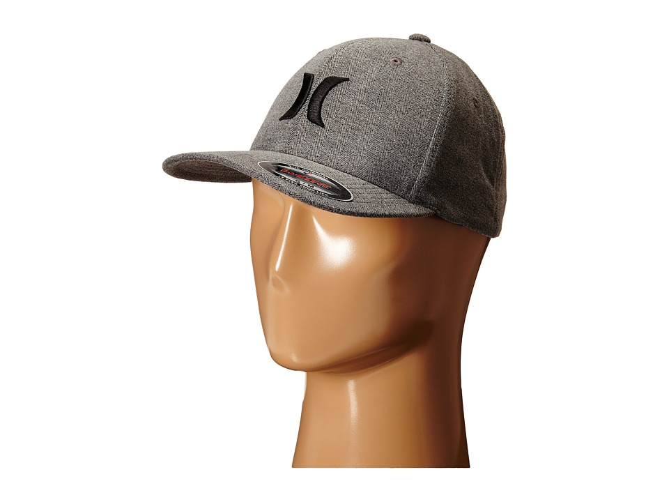 Hurley - Black Suits Fitted Hat (Brushed Herringbone) Caps
