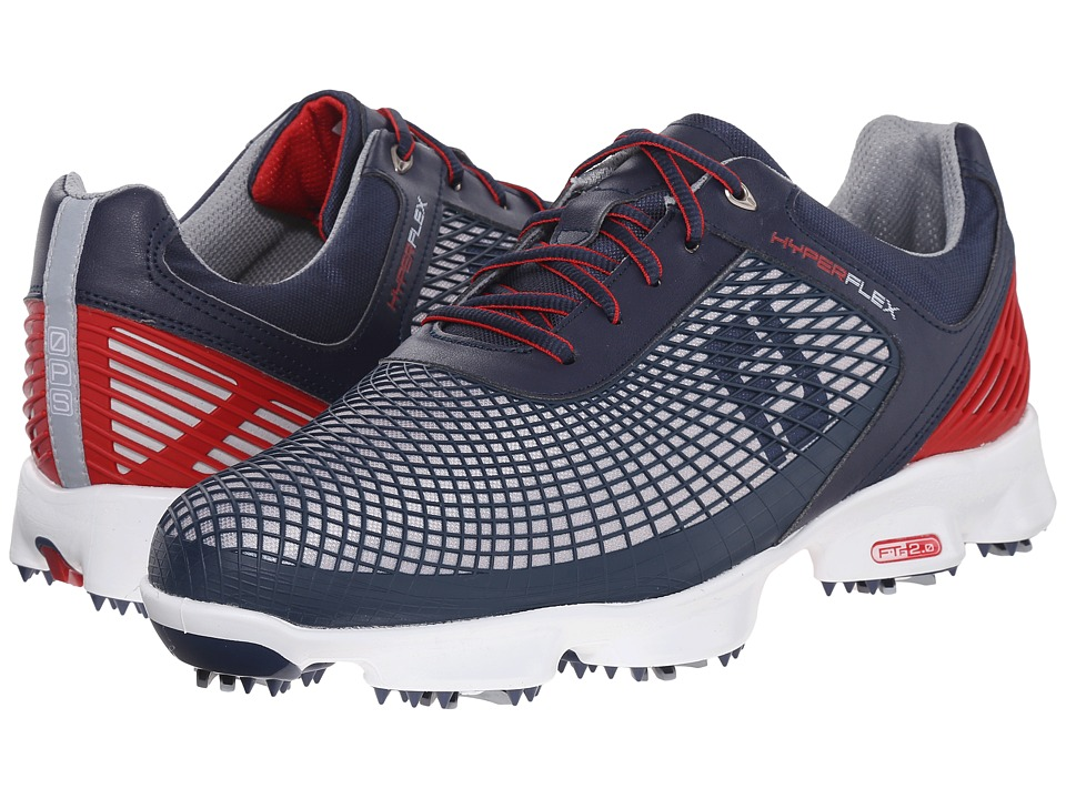 FootJoy - Hyperflex (Navy/Silver/Red) Men's Golf Shoes