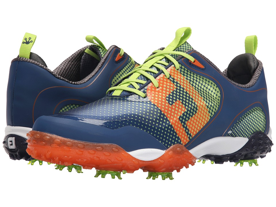 FootJoy - Freestyle (Navy/Orange/Lime) Men's Golf Shoes