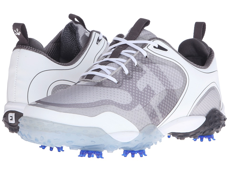 FootJoy - Freestyle (White/LGrey/Charcoal) Men's Golf Shoes