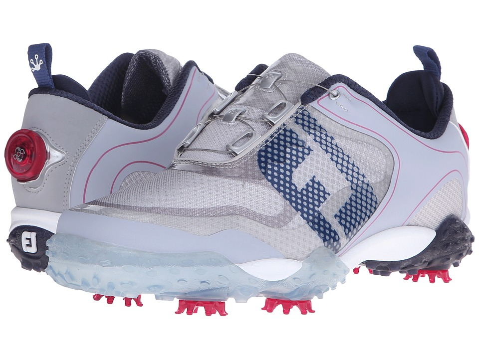 FootJoy - Freestyle (Light Grey/Navy/Berry) Men's Golf Shoes