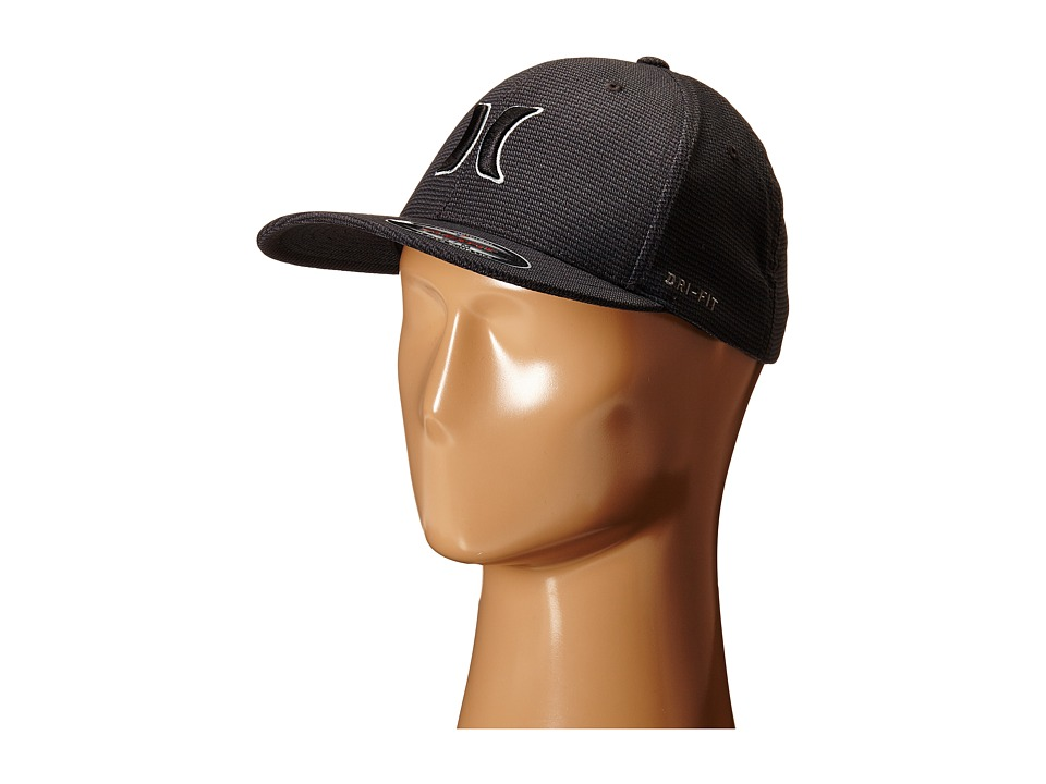 Hurley - Dri-Fit Halyard Fitted Hat (Black) Caps