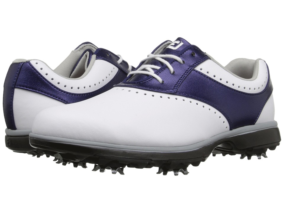 FootJoy - eMerge (White/Navy Linen) Women's Golf Shoes