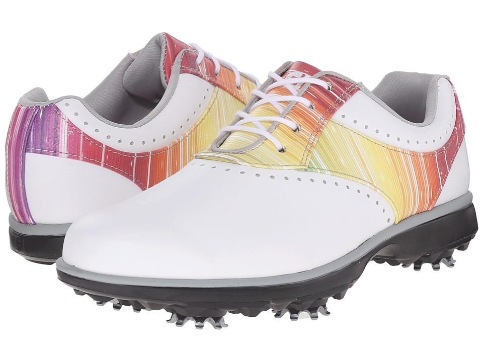 FootJoy - eMerge (White/Rainbow) Women's Golf Shoes