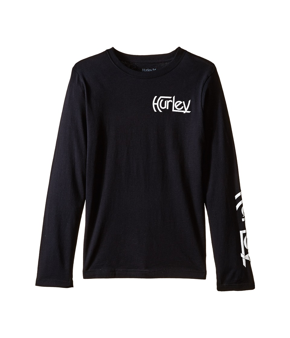 Hurley Kids - Original Vintage Long Sleeve Tee (Big Kids) (Black) Boy