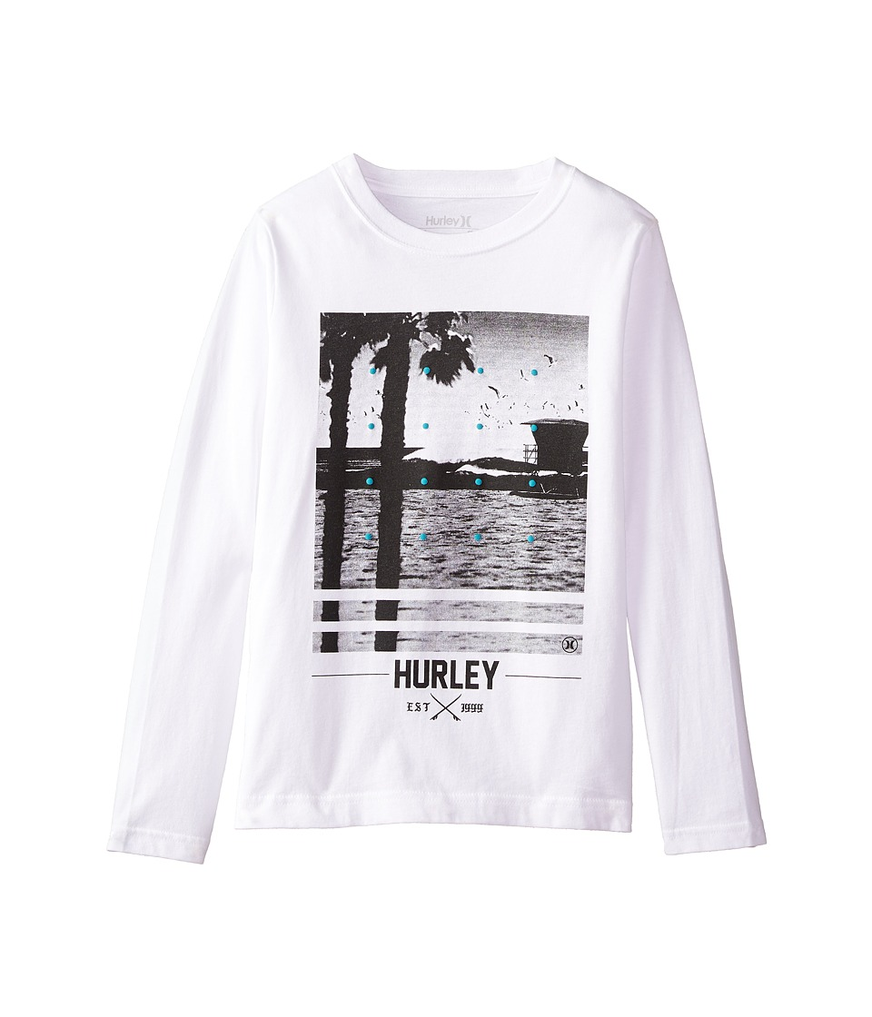 Hurley Kids - Not Going Out There Short Sleeve Tee (Big Kids) (White) Boy's T Shirt