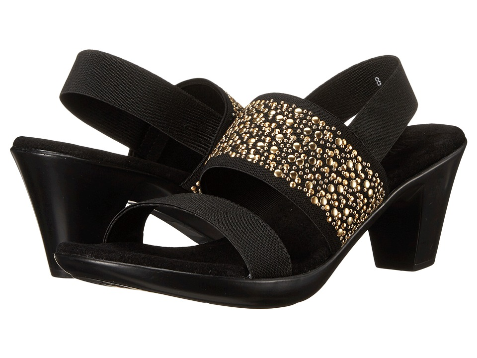 Vivanz - Ariel (Black/Gold) Women's Dress Sandals