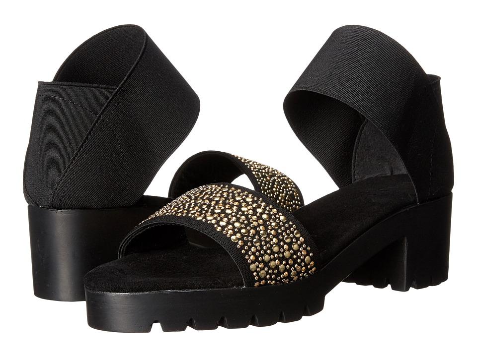 Vivanz - San Miguel (Black/Gold) Women's 1-2 inch heel Shoes