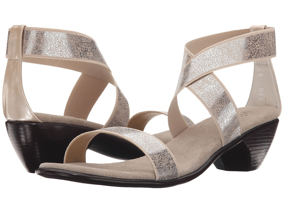 Vivanz - Miranda (Silver Brush) Women's Dress Sandals