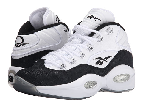 Reebok - Question Mid (Black/White) Men's Basketball Shoes