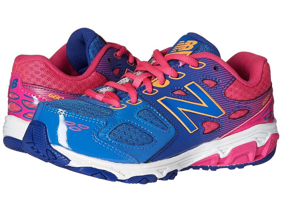New Balance Kids KR680v3 (Little Kid/Big Kid) (Blue/Pink) Girls Shoes